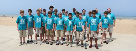 Boychoir at Lake Huron 2013