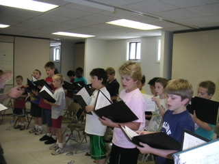 More Boys Rehearsing at Singing Camp 2006